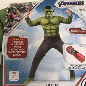 Boys Brand new Hulk costume size small